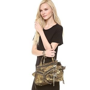 Botkier Legacy Distressed Metallic Small Satchel